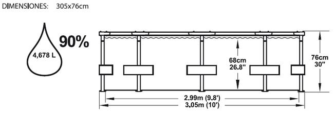 Piscina Bestway Steel Pro 305x76 ref 56059