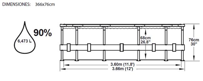 Piscina Bestway Steel Pro 366x76 ref 56062