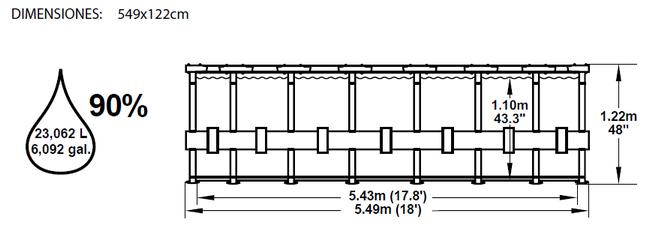Piscina Bestway Steel Pro 549x122 ref 56115