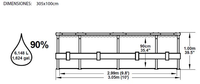 Piscina Bestway Steel Pro 305x100 ref 56334
