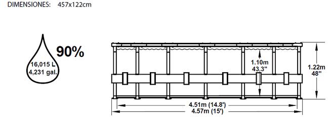 Piscina Bestway Steel Pro 457x122 ref 56100