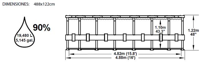 Piscina Bestway Steel Pro Ultra-Reforzada 488x122 ref 56266 56277