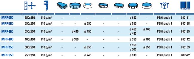 Tapices de suelo para piscinas gre circulares
