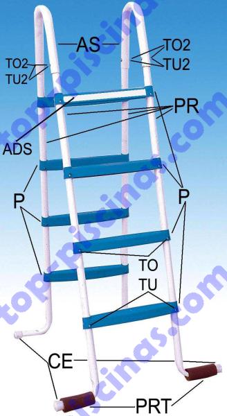 Despiece de Escalera de 8 Peldaños Toi ref 4870